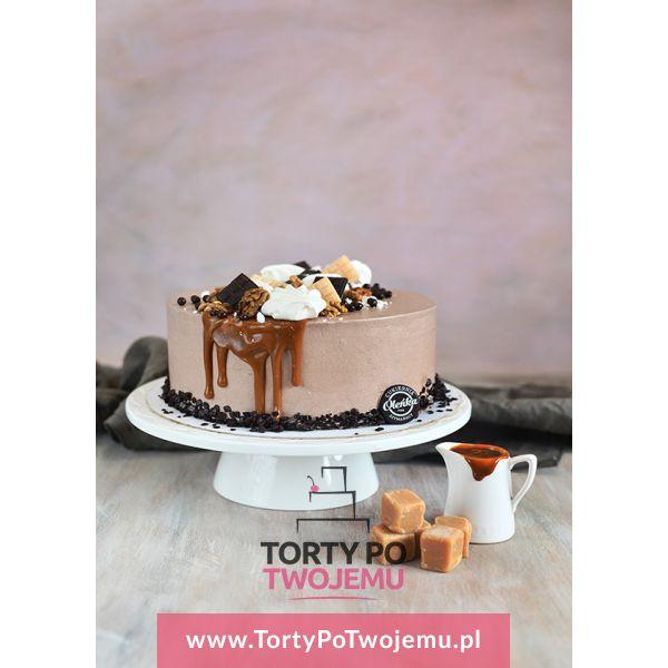 Tort Orzechowo - Kajmakowy